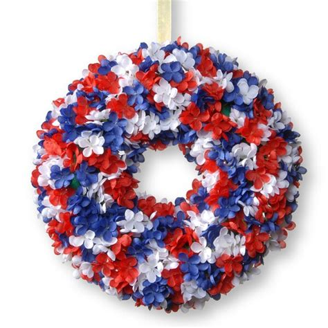 14 Patriotic Hydrangea Wreath Look At  On Sale.